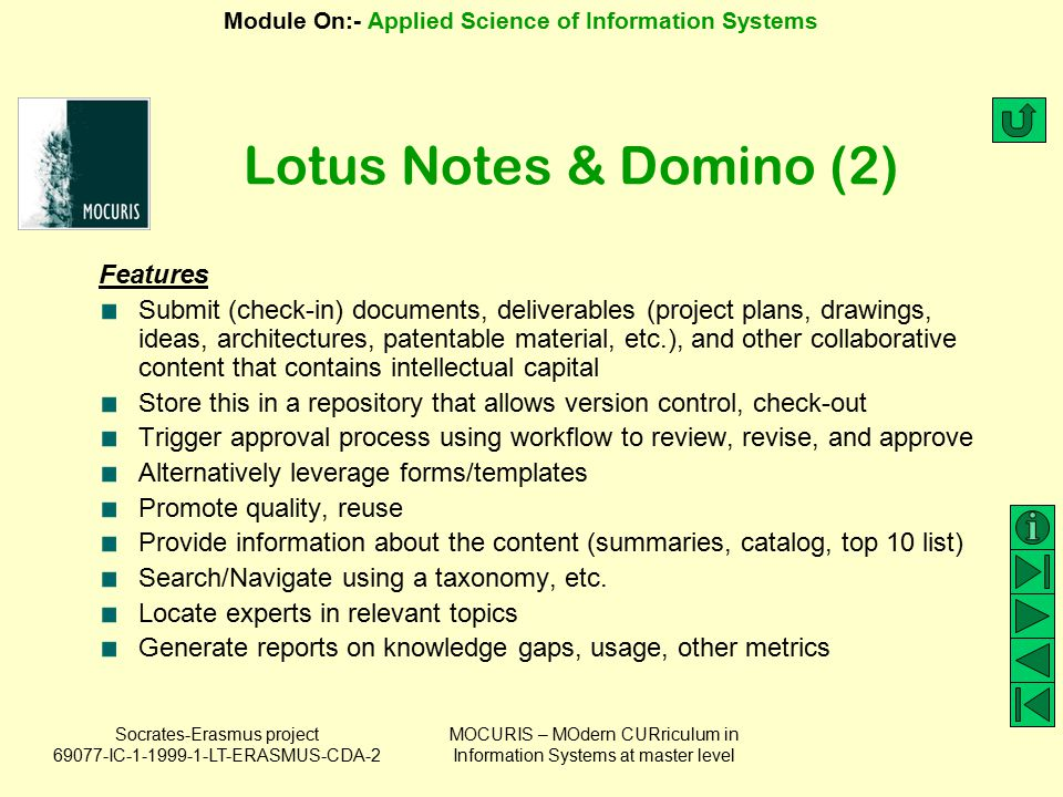 Lotus Notes & Domino (2) Features