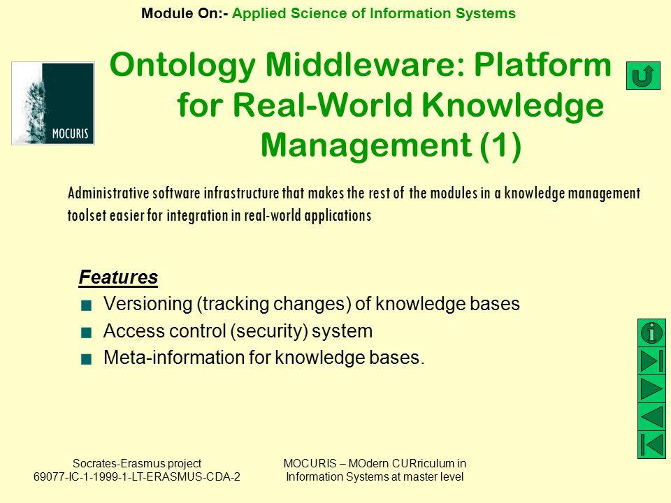 Ontology Middleware: Platform for Real-World Knowledge Management (1)