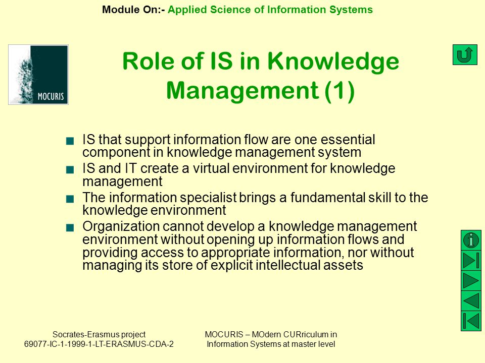 Role of IS in Knowledge Management (1)