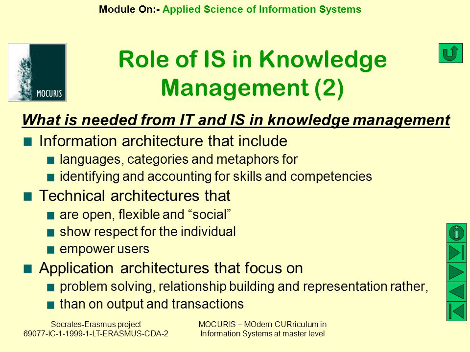 Role of IS in Knowledge Management (2)