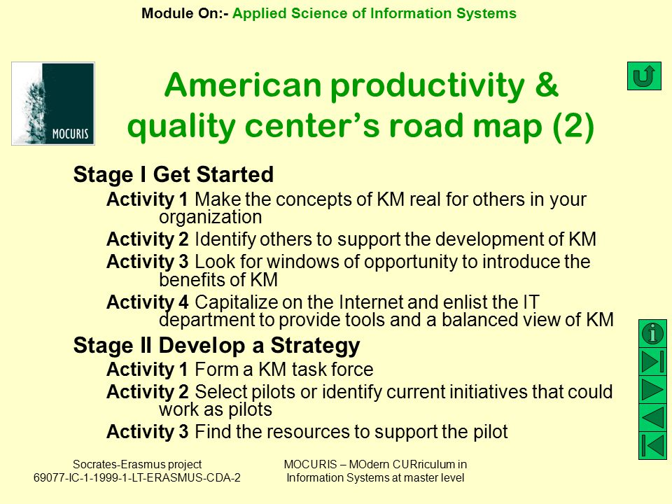 American productivity & quality center's road map (2)
