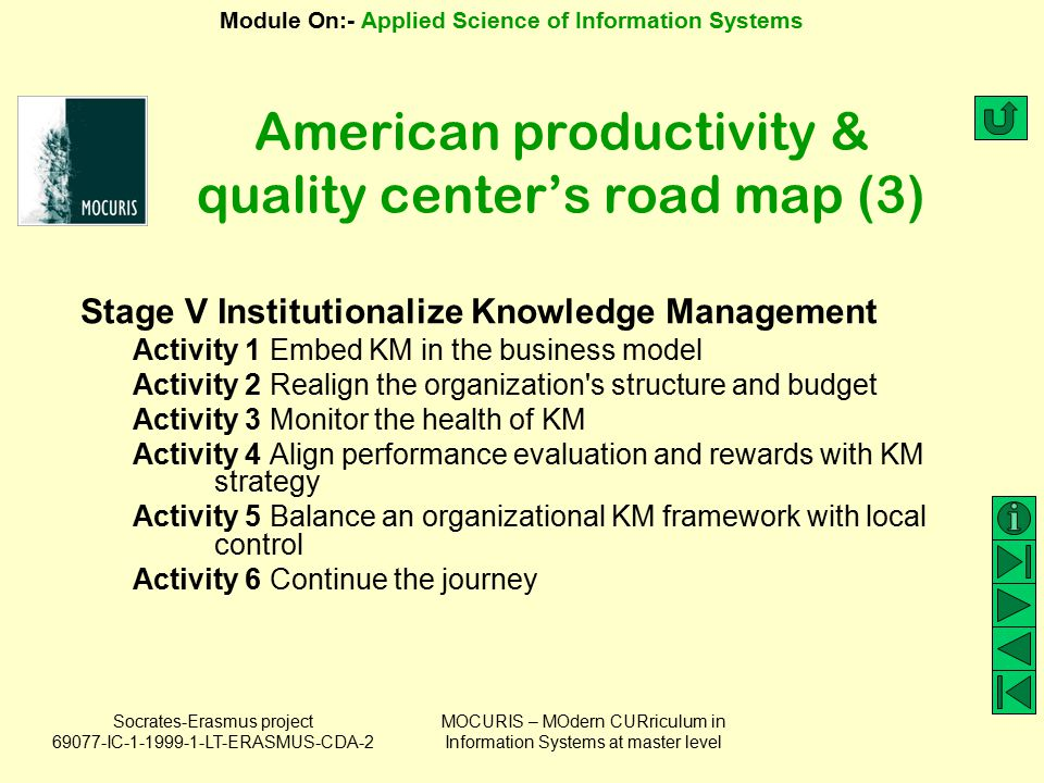 American productivity & quality center's road map (3)