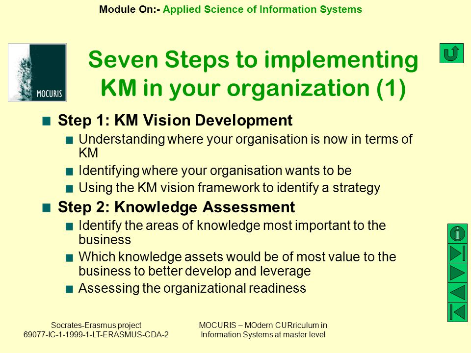 Seven Steps to implementing KM in your organization (1)