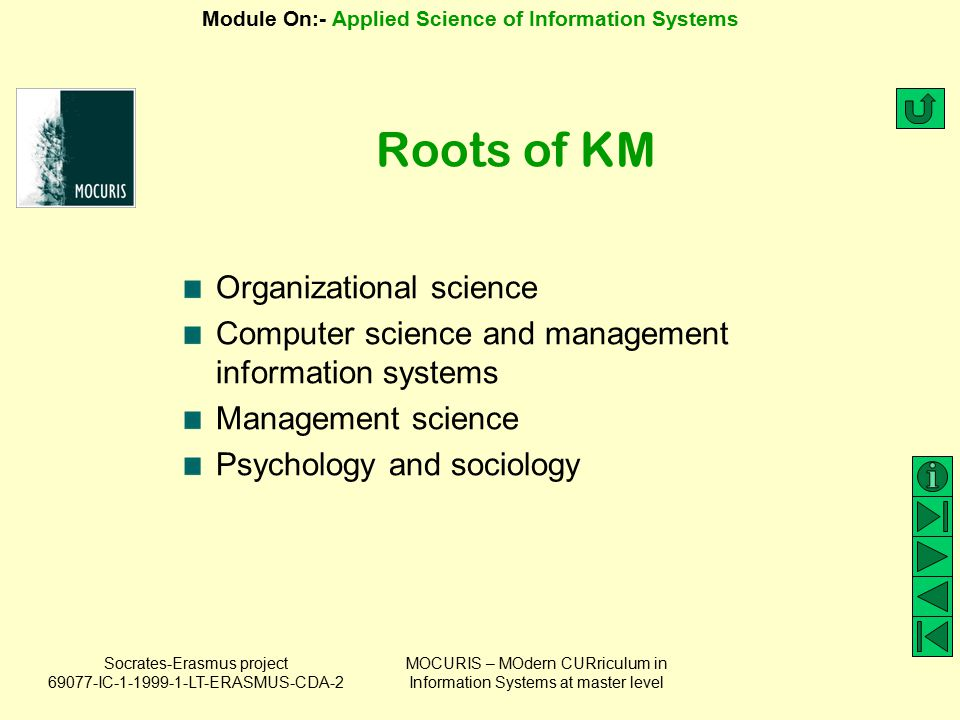 Roots of KM Organizational science