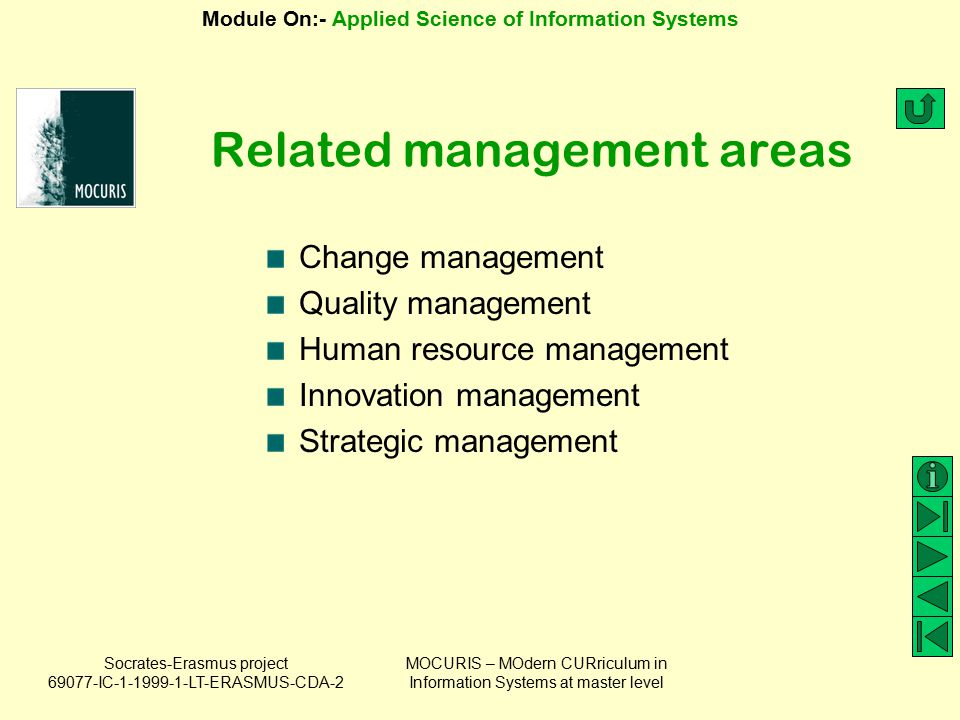 Related management areas