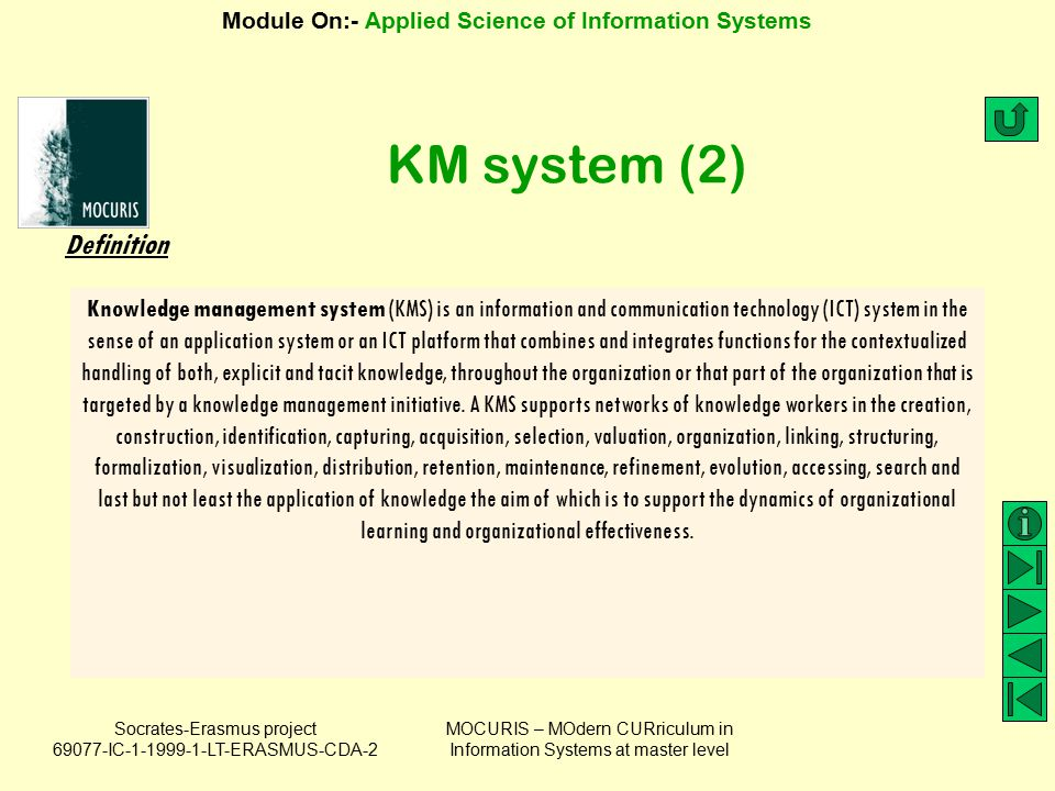 KM system (2) Definition