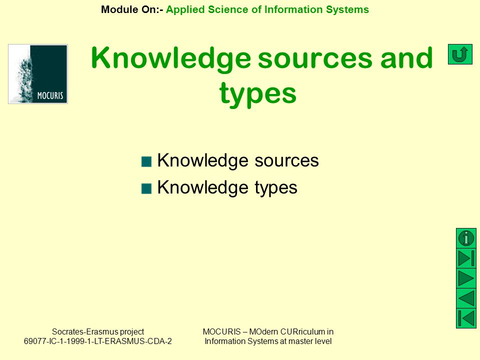 Knowledge sources and types