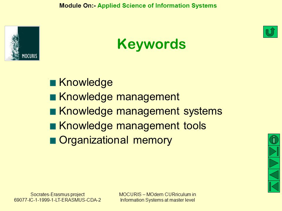 Keywords Knowledge Knowledge management Knowledge management systems