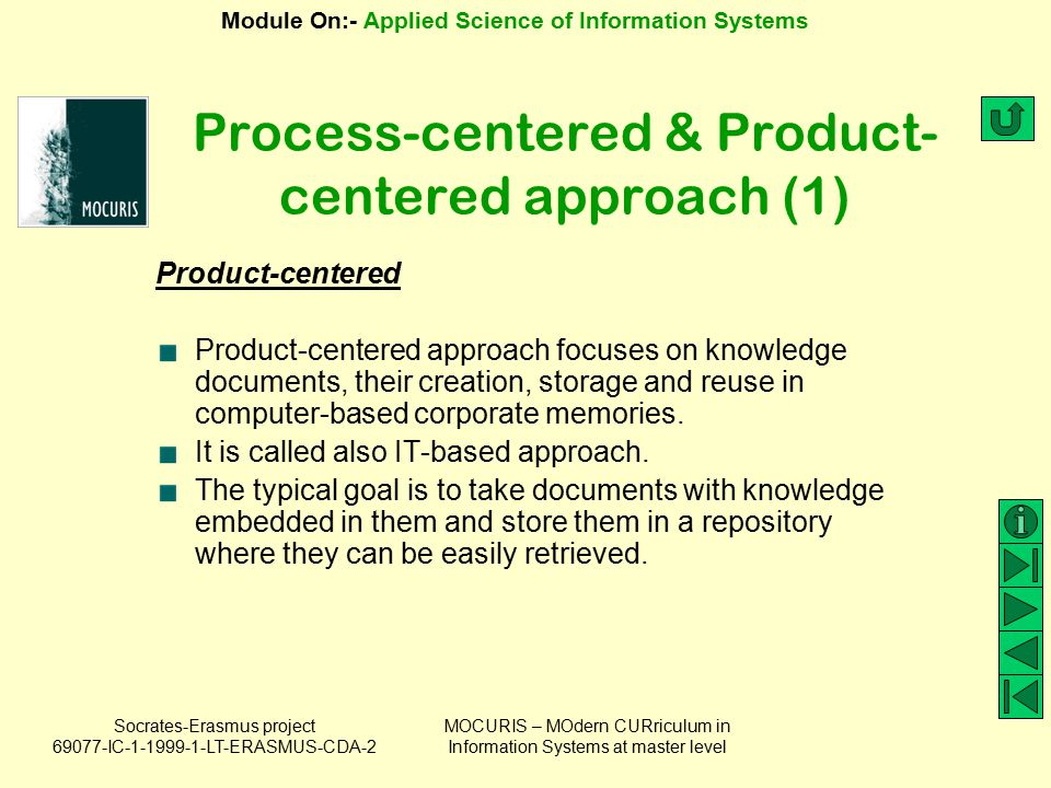 Process-centered & Product-centered approach (1)