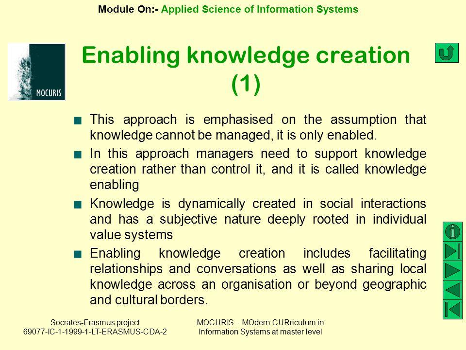 Enabling knowledge creation (1)