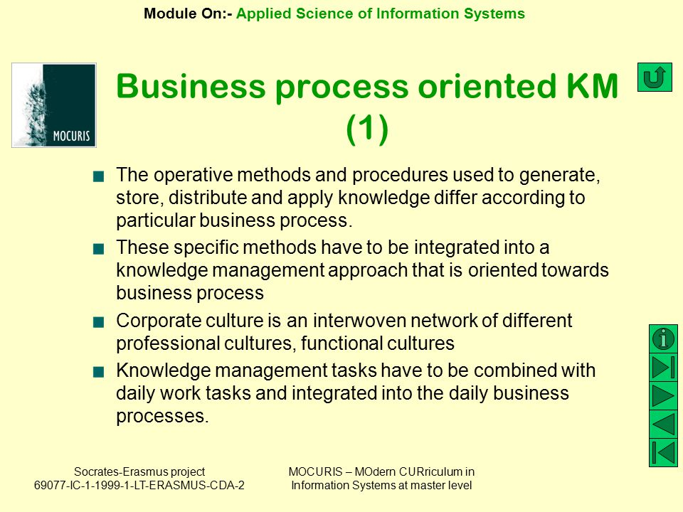 Business process oriented KM (1)