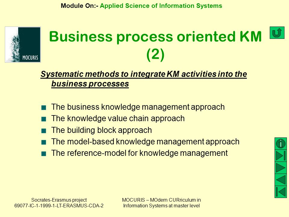 Business process oriented KM (2)