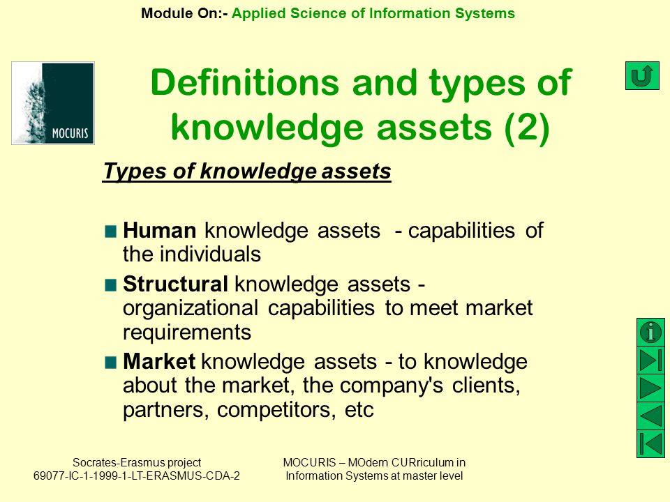 Definitions and types of knowledge assets (2)