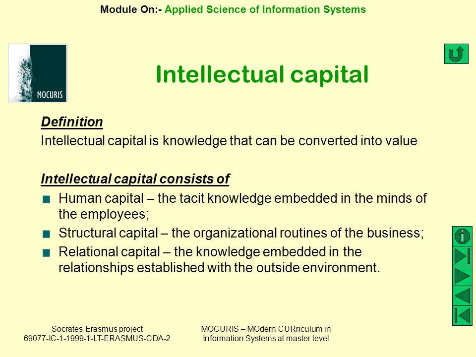 Intellectual capital Definition