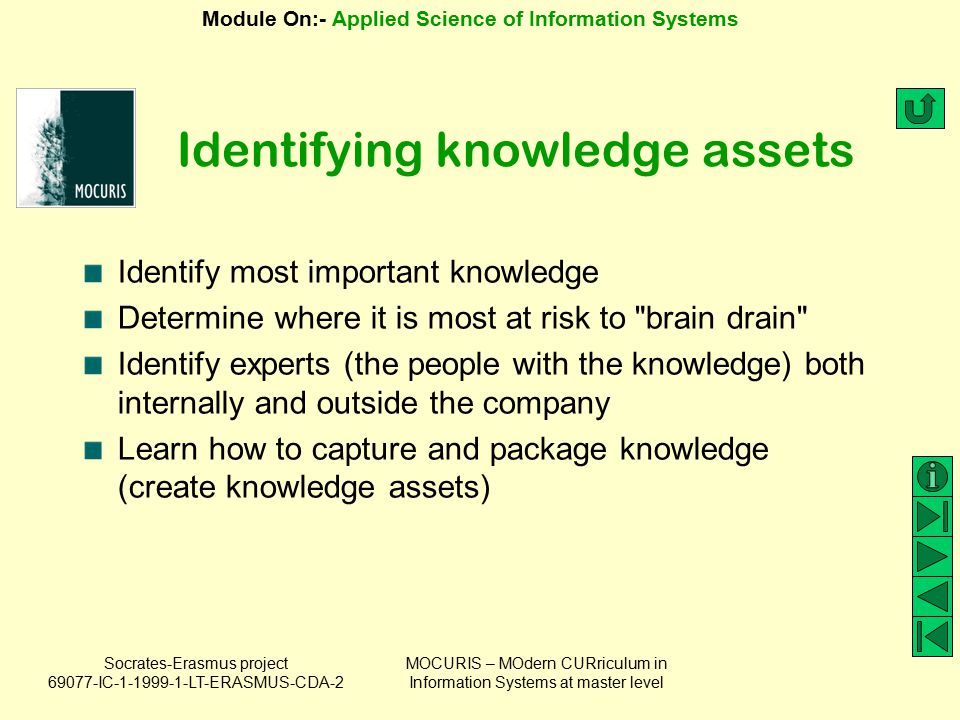 Identifying knowledge assets