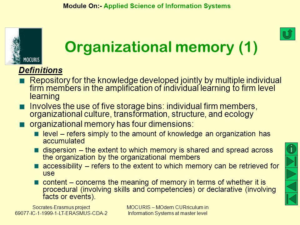 Organizational memory (1)