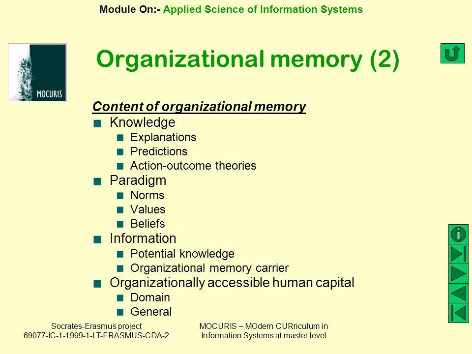 Organizational memory (2)