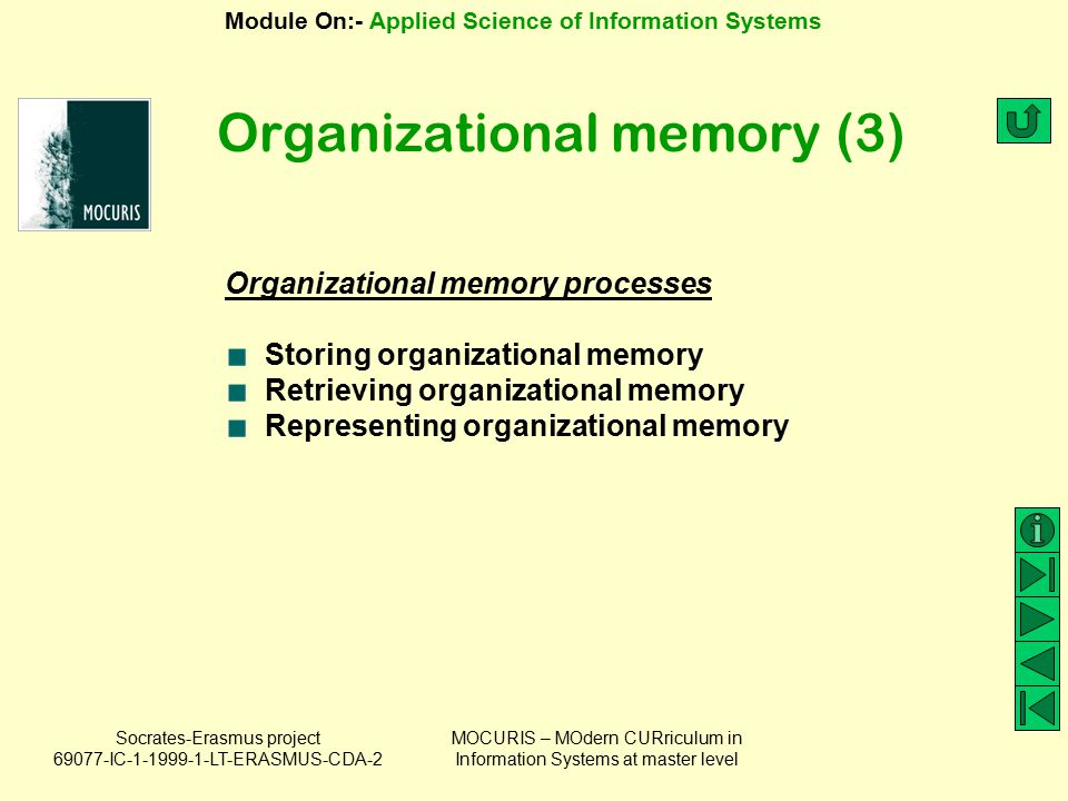 Organizational memory (3)