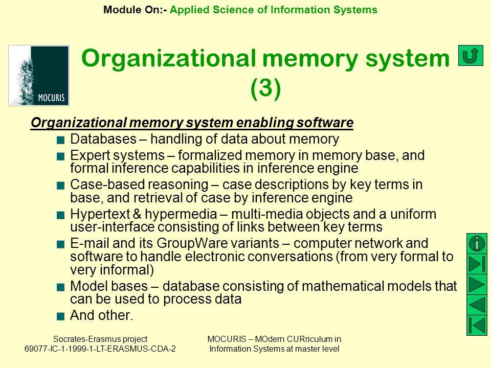 Organizational memory system (3)