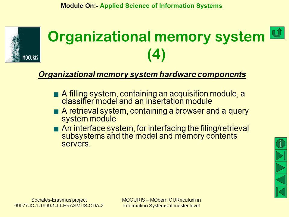 Organizational memory system (4)