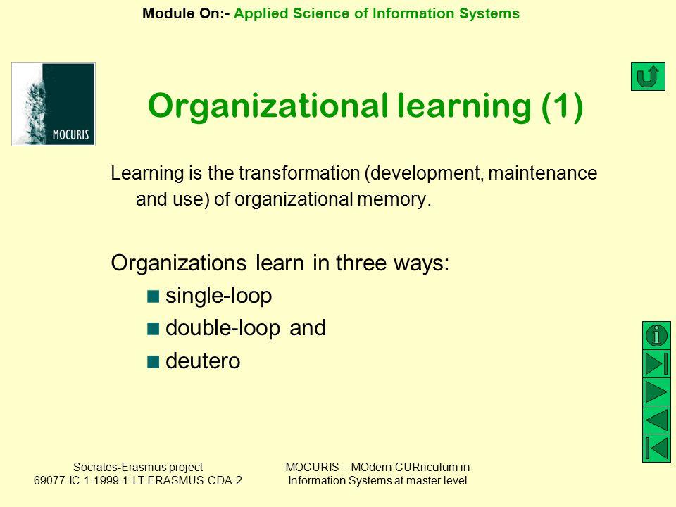 Organizational learning (1)