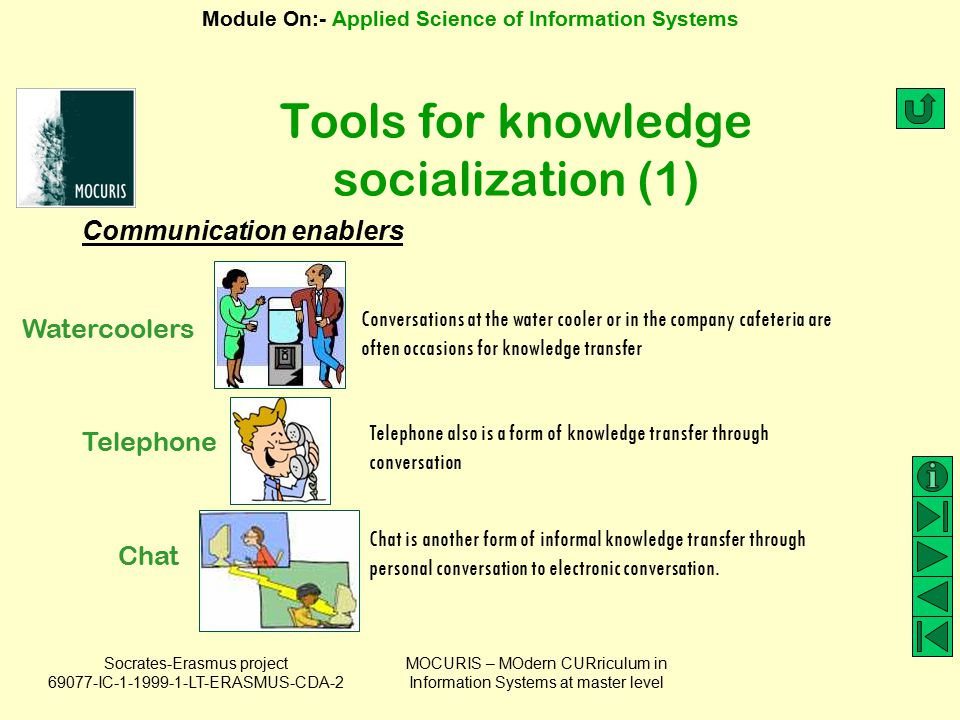 Tools for knowledge socialization (1)