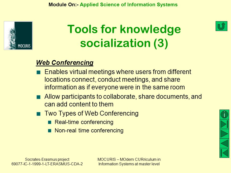 Tools for knowledge socialization (3)