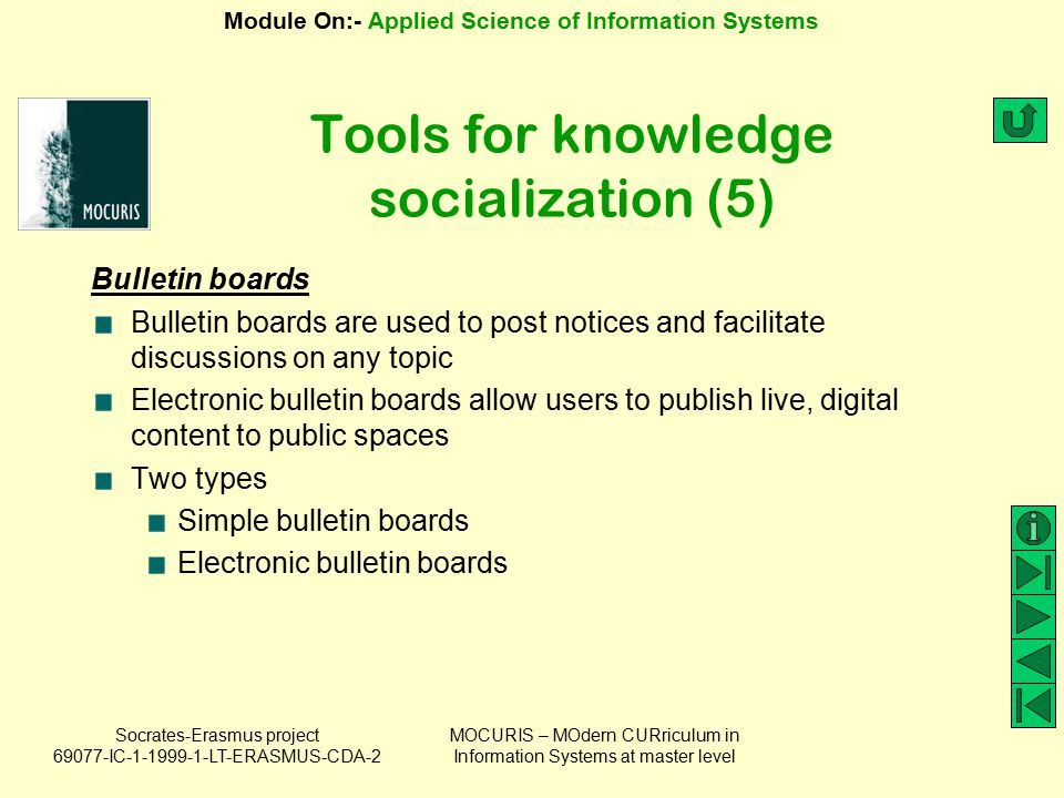 Tools for knowledge socialization (5)