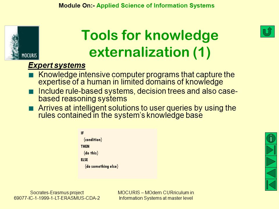 Tools for knowledge externalization (1)