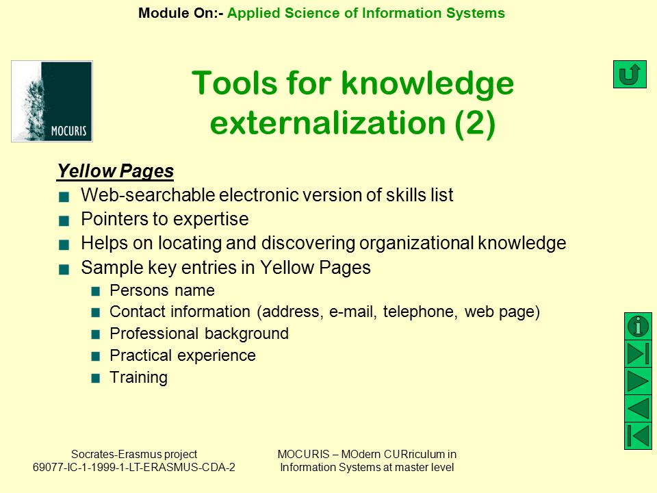 Tools for knowledge externalization (2)