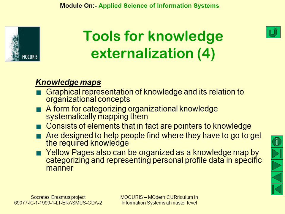Tools for knowledge externalization (4)