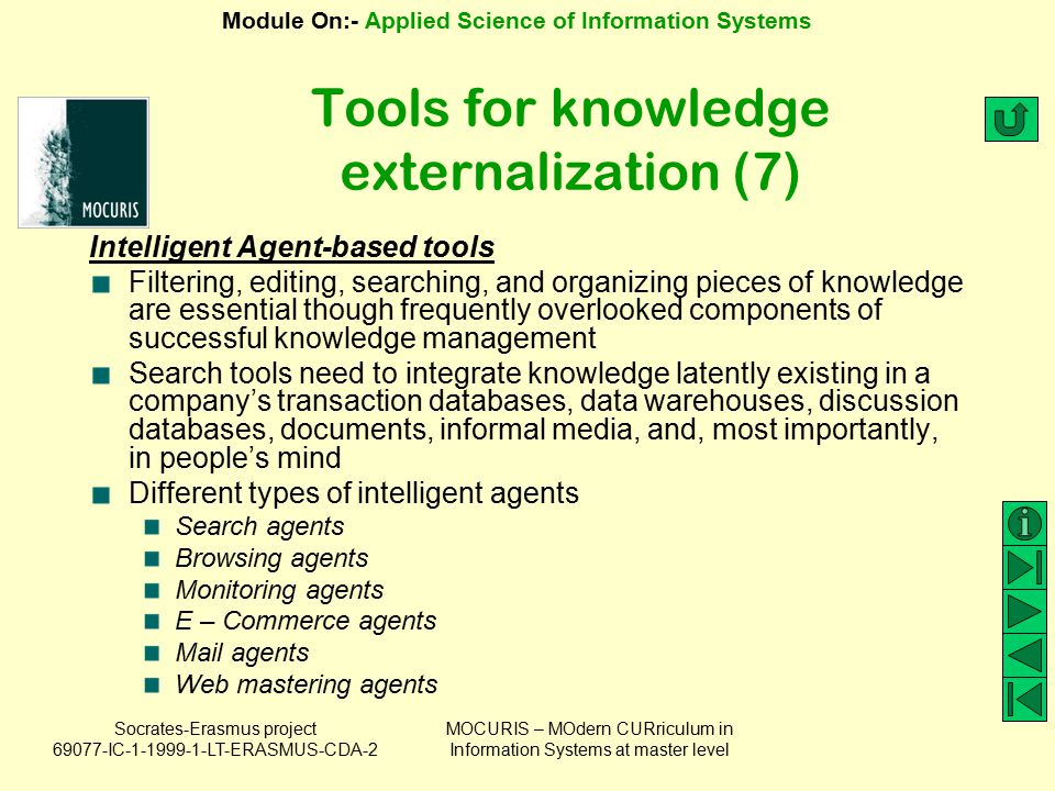 Tools for knowledge externalization (7)