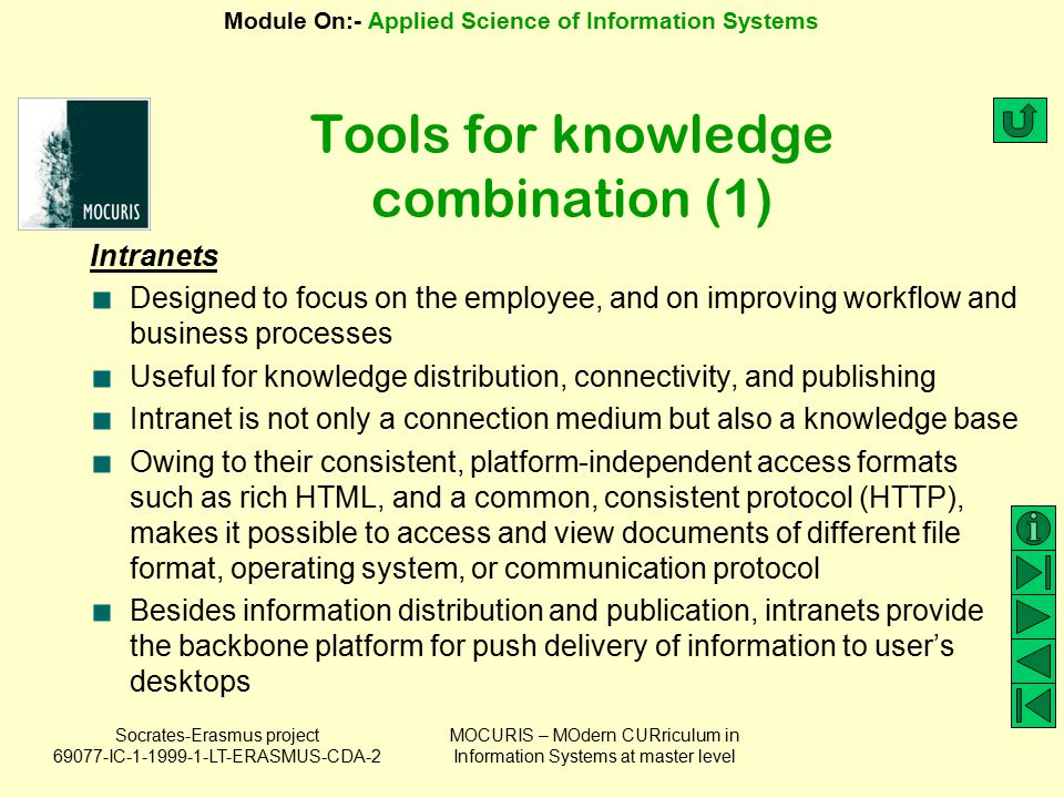Tools for knowledge combination (1)