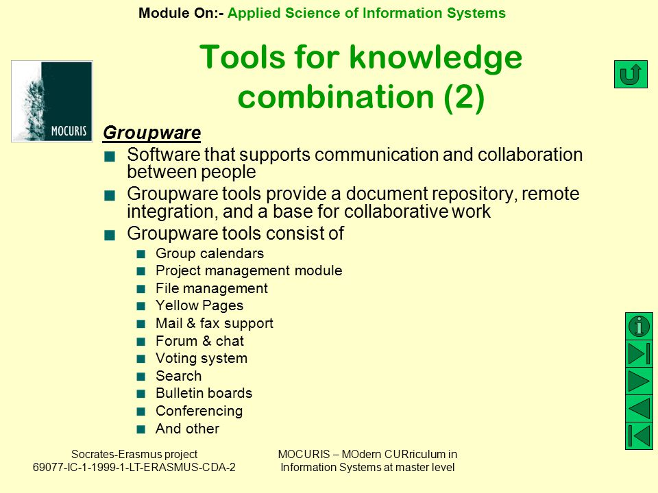 Tools for knowledge combination (2)
