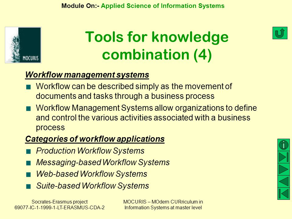 Tools for knowledge combination (4)