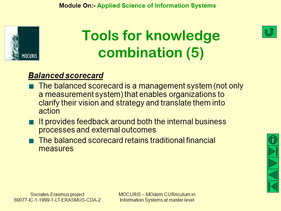 Tools for knowledge combination (5)