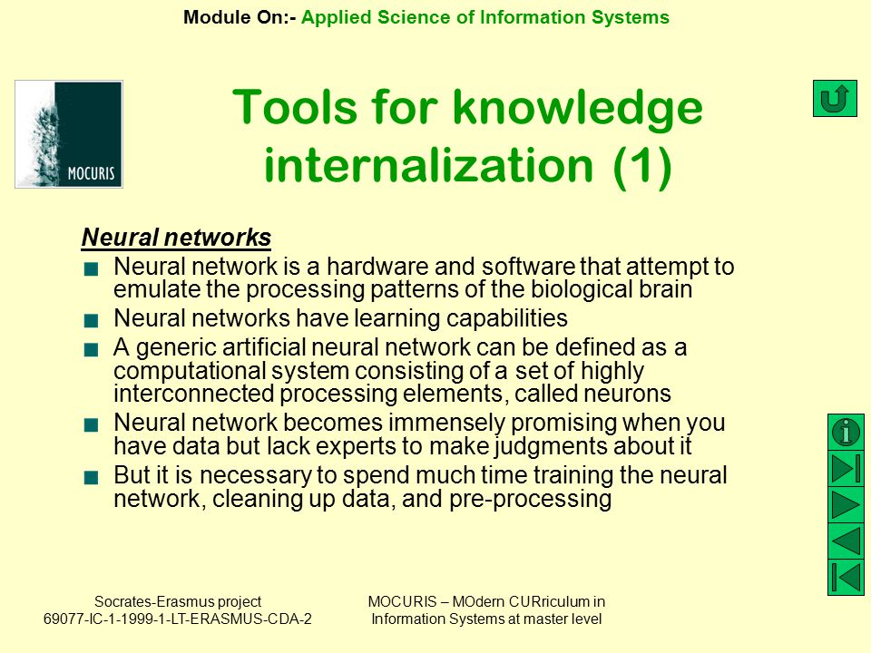 Tools for knowledge internalization (1)