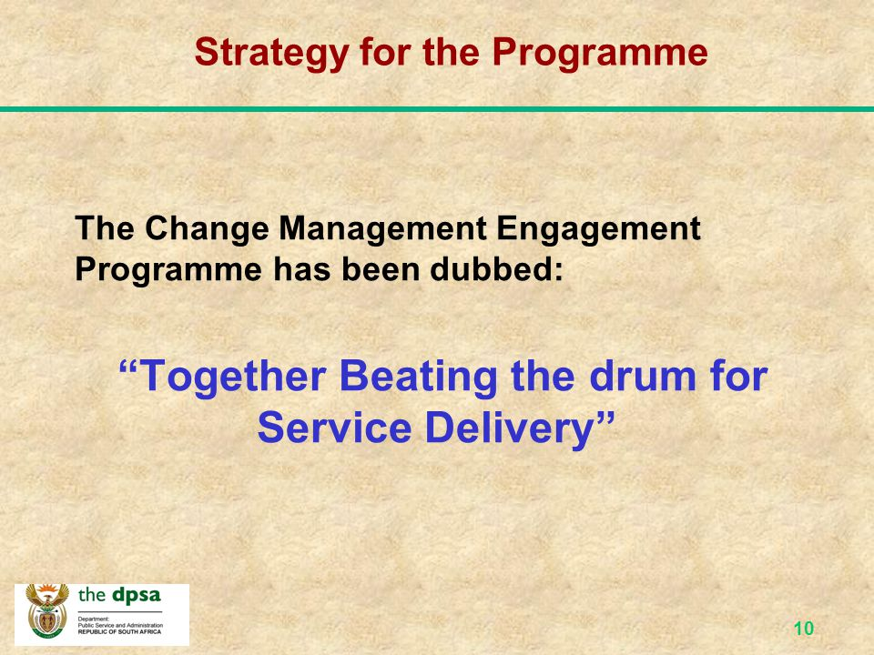 Strategy for the Programme