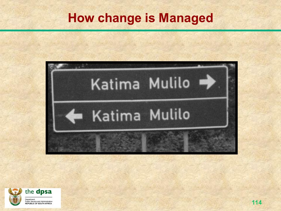 How change is Managed
