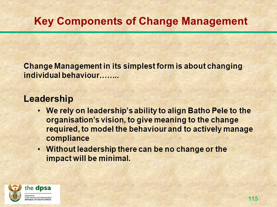 Key Components of Change Management