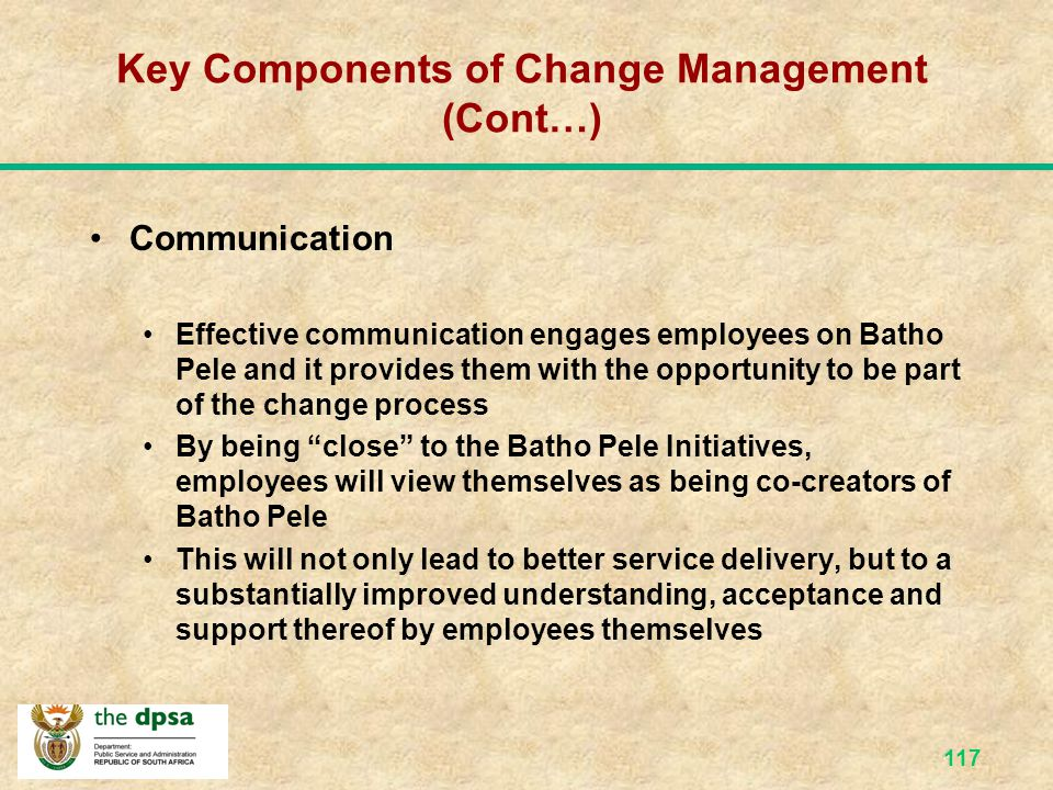 Key Components of Change Management (Cont…)