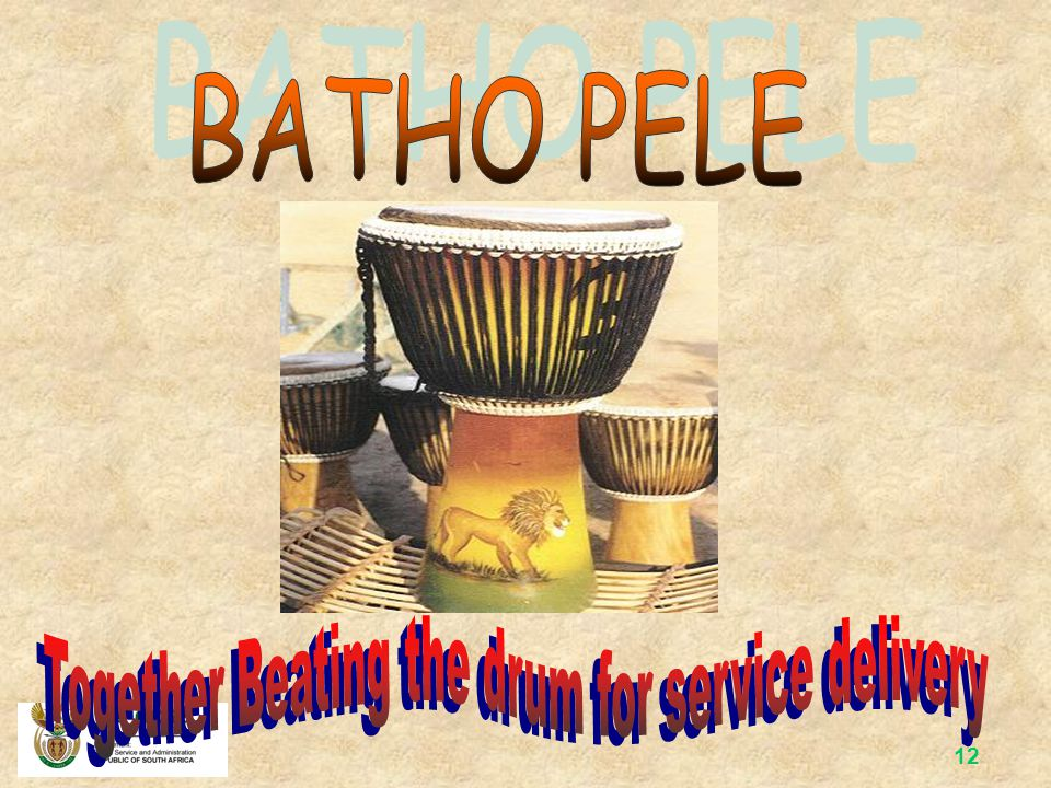 Together Beating the drum for service delivery