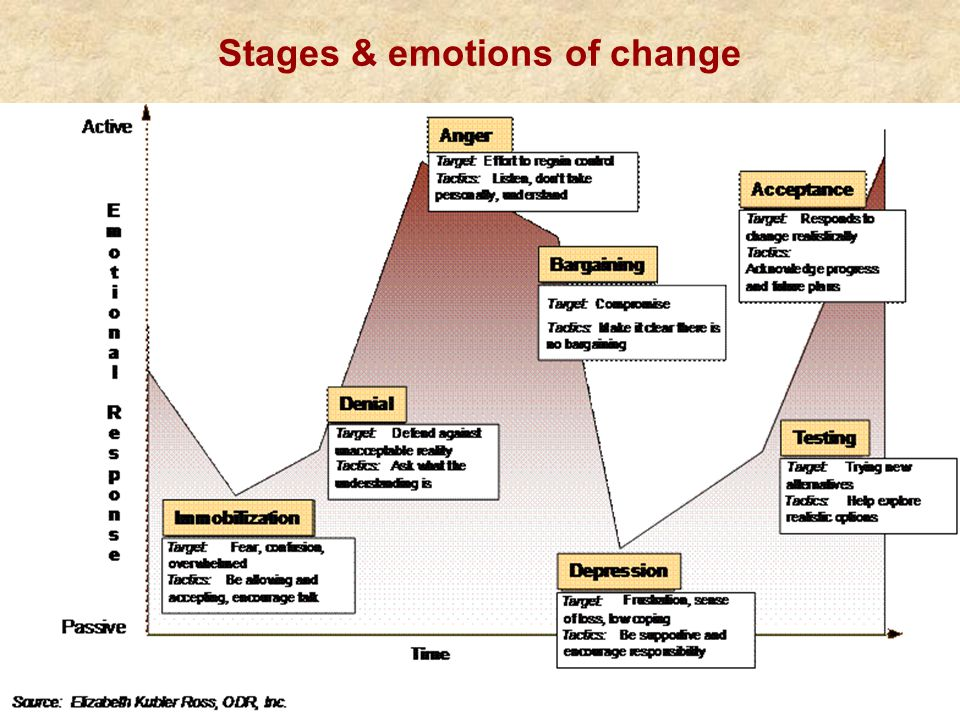 Stages & emotions of change