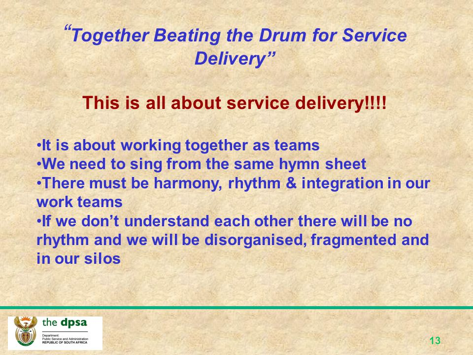 This is all about service delivery!!!!