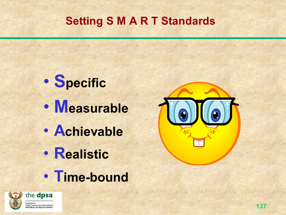 Setting S M A R T Standards