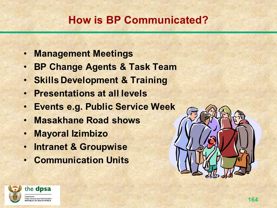 How is BP Communicated Management Meetings