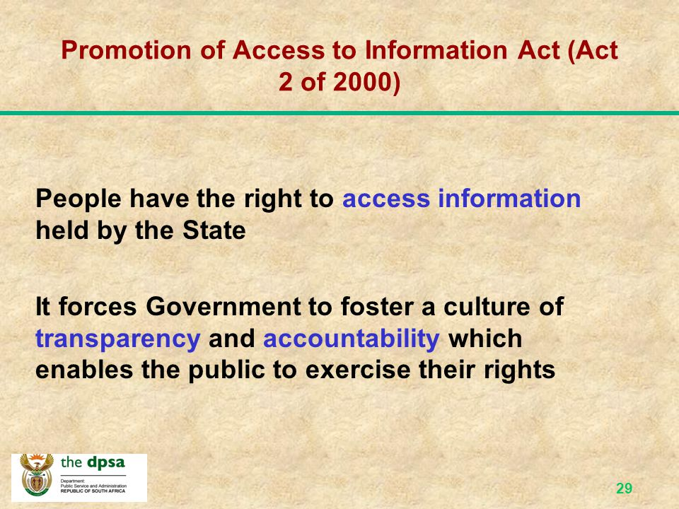 Promotion of Access to Information Act (Act 2 of 2000)