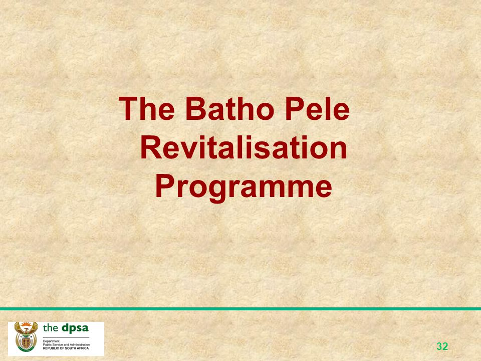 The Batho Pele Revitalisation Programme
