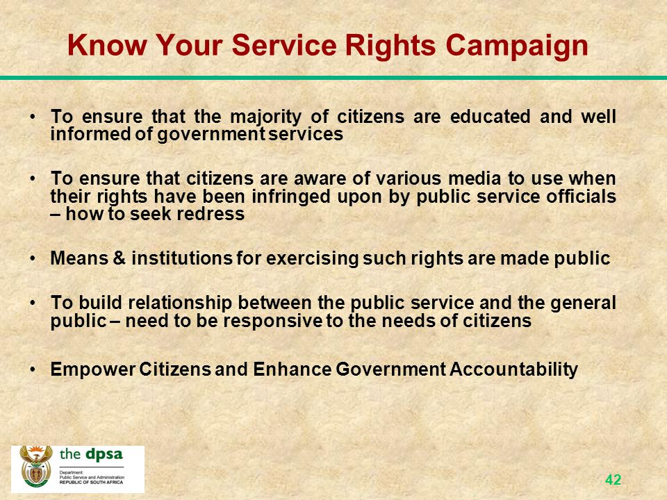 Know Your Service Rights Campaign