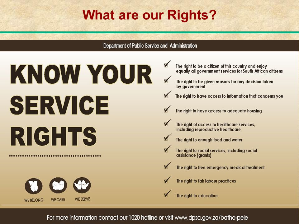 What are our Rights